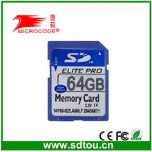 Best Quality 64gb sdhc memory card/Flash SD card 64gb sdxc low price
