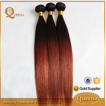 high quality cheap colored two tone hair weave, popular style two tone brazilian hair