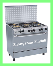 "Canton Fair 36"" cooking range with Auto ignition+ Turnspit+ Oven lamp, 90*60cm gas range with Enamel Iron Pan support, 120L"