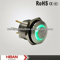 CE ROHS door bell security metal push button switch