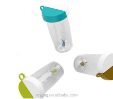 Fashion Portable Plastic Water Bottle with Rabbit Hole Design