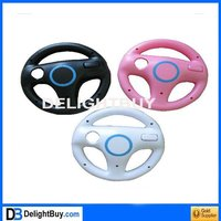Racing for mario game steering Wheel Controller for Wii (White)