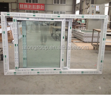 UPVC vinyl double glazing sliding windows,sliding glass reception windows,high quality double shutter/panel sliding windows