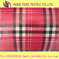 low rate 100%cotton woven red plaid check flannel fabric for shirts