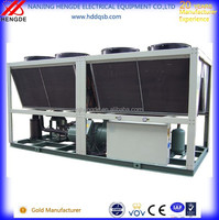 CE Certification R22 Refrigeration Air Cooling Water Screw Chiller Manufacturer Single Compressor