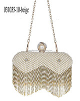 031035-10-beige latest design fashion luminous evening handbag evening clutch bags