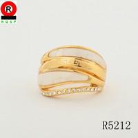 Latest design fashion mottled saudi gold jewelry ring fashion jewelry hot selling Europe market