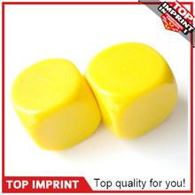 Customed 6 Side Yellow Blank Plastic Dice