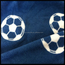 dark blue football printed polar fleece for blanket