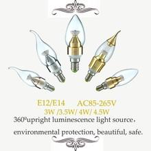Led candle light 4W E12 E14 SMD2835