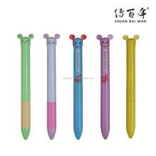 Korea kawayi simle two color pen for students