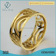 Hollow gold ring for female,gold ring female jewelry