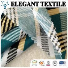 Elegant Textile cotton fabric big checks