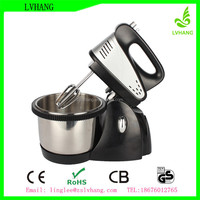 5 speed ABS plastic super hand mixer with rotating bowl CE ROHS