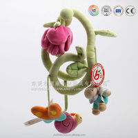 High quality plush baby toys with musical pull string