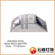 wholesale hot selling 2LED outdoor solar motion sensor wall lamp