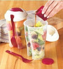 2015 new product hot wholesale fruit salad cups / fruit salad container / PP salad to go with fork BPA free