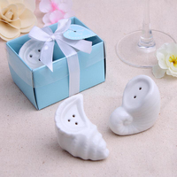 NEW ARRIVAL+Wedding Favors A Pair Of Conch Salt and Pepper Shakers Set+100sets/lot+FREE SHIPPING