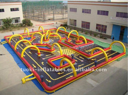 inflatble kart racing,outdoor playground sports go karts