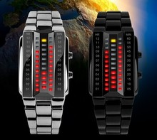 top active brand new led binary watch,metal frame