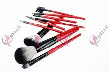 Design export wood hand charming 9Pcs cosmetic brush set
