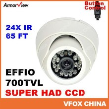 1 3 Inch Security Camera Color EFFIO 700TVL SONY SUPER HAD CCD Indoor Dome Camera 24 Infrared Led Wide Angle CCTV Camera