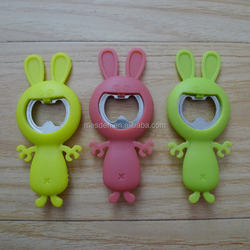 rabbit shaped silicone/soft bottle opener
