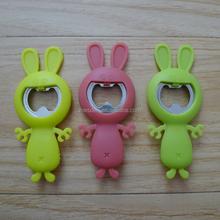 rabbit shaped silicone/soft bottle opener