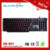 Compact Gaming Keyboard, 104 keys standard mechanical key touch LED gaming keyboard