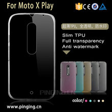 ultra-thin transparent tpu case for moto X play ,back cover for moto X play , mobile phone case cover for moto X play
