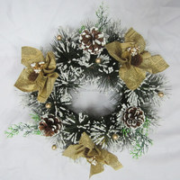 Wholesale artificial PVC/PE/PINE christmas garland/wreath with many decoration