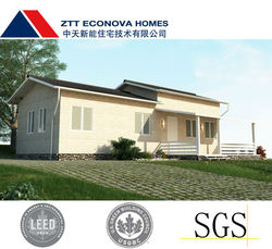 prefabricated house with light steel structure low cost smart house