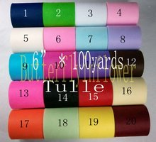 hot sale ! fabric tulle Robe Tulle roll many colors to choose