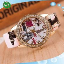 Multi Color Leather Strap Hot Sale Bracelet Watch Lady Tower Watch