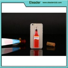 Transparent pc case for iphone 6,Cocktail bottle case for iphone 6
