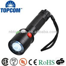 Rechargeable 3w 6 red LED 6 green LED 1 white led signal flashlight