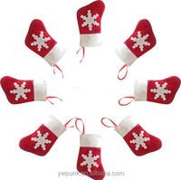 Mini Snow Holder Lovely Christmas Socks Shaped Christmas Cutlery Suit Silverware Holder Knives And Forks Pocket