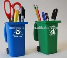 Creativo de plástico mini de escritorio& de basura papelera de reciclaje