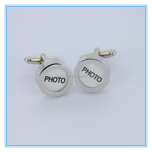 2015 High Quality PHOTO men's memories of life upscale French male Recall Cufflinks