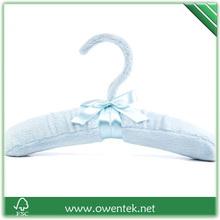 elegant solid blue color satin hanger fabric hanger for skirt