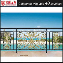 modern home outdoor laminated aluminium balustrade balcony railing & stairway design