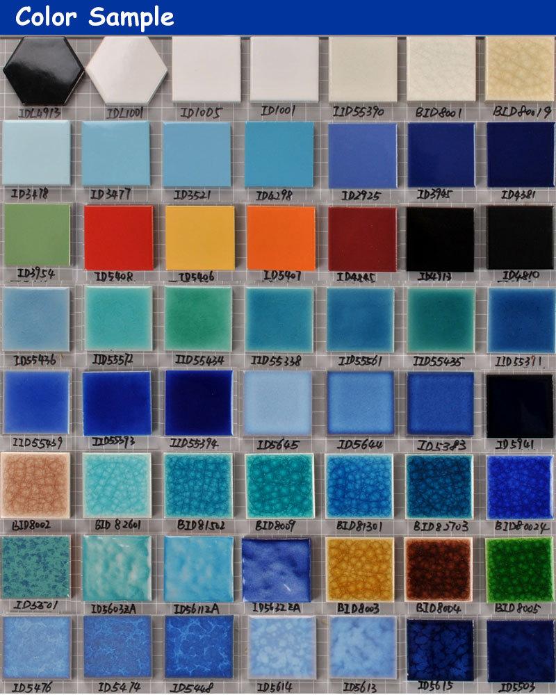 Decorative Blue Square Shaped Glazed Ceramic Swimming Pool Mosaic ...