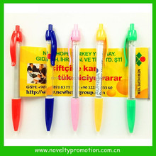Pull Out Promotinoal Poster Ball Pen