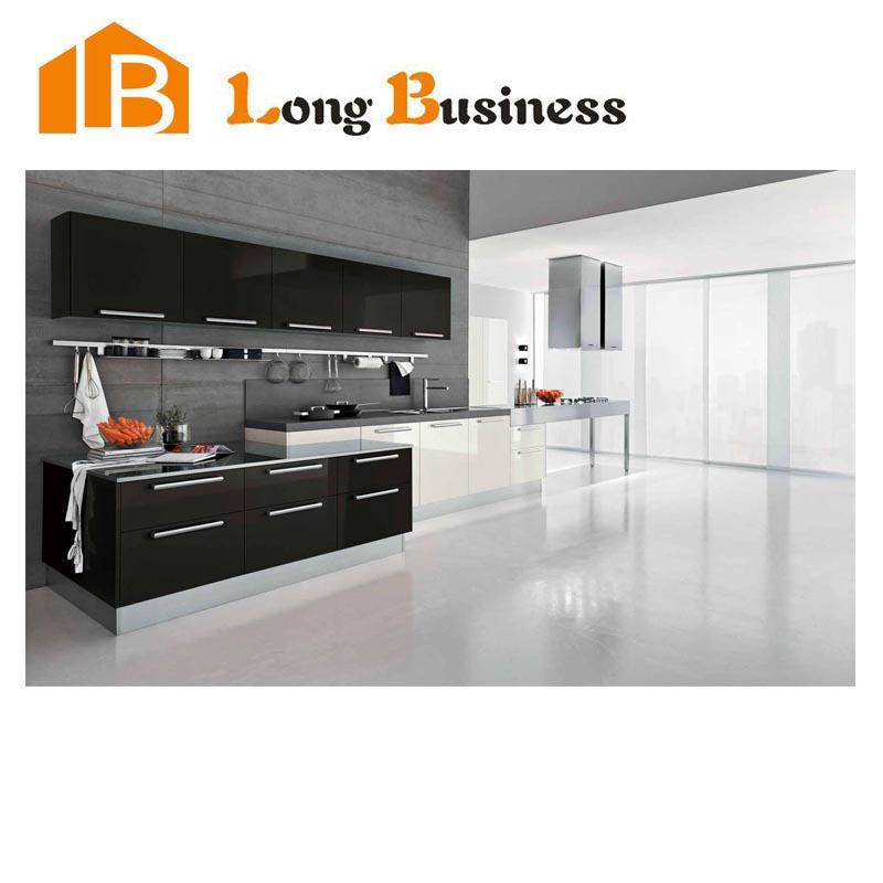 lb-jl1084 di lusso nero lacca armadio da cucina cucina di design ... - Cucina Di Design Armadio Di Lusso