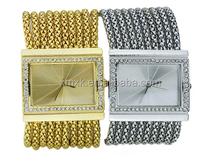 fashion quartz gold stainless stell diamond lady women luxury watch