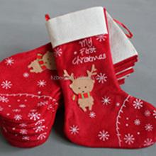 Factory sale bright color xmas stockings christmas decorative socks,funny christmas socks in storage
