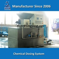 Automatic chemical dosing system for waste water treatment
