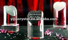 heart shape Crystal Trophy