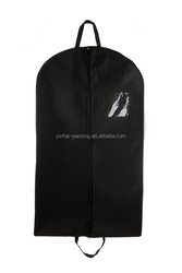 Black nonwoven garment suit bags for suit with zippered