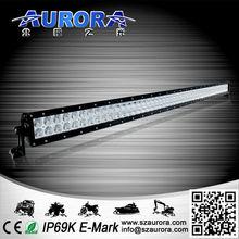 High optical efficiency multi beam AURORA 50'' 500W double row led light bar chrome truck accessories